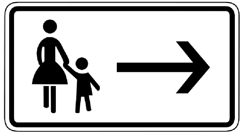 Mother & Daughter Crossing